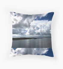 Lowcountry Clouds over Charleston Harbor Floor Pillow