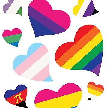 LGBT Pride Flag Hearts by WingMarks
