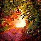 Sun Through The Trees by Leon Woods