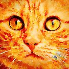 Ginger Cat Face by Leon Woods