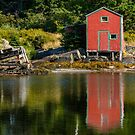 Red Shed Reflecting by kenmo