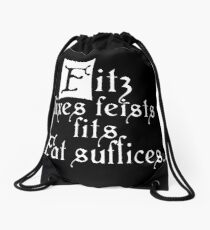 The Fitz and The Fool (Fitz) Drawstring Bag