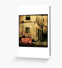 beetle coimbra - Portugal Greeting Card