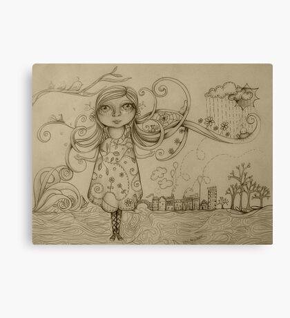Summer Breeze drawing Canvas Print