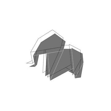origami elephant  by stoekenbroek