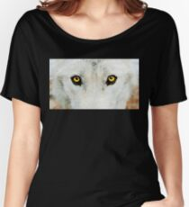 Yellow Wolf Eyes Women's Relaxed Fit T-Shirt