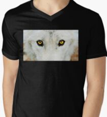 Yellow Wolf Eyes Men's V-Neck T-Shirt