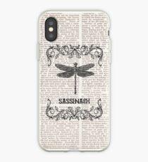 DRAGONFLY-SASSENACH paper iPhone Case