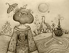 Teapot Topiary drawing by © Karin Taylor