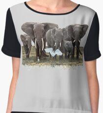 Elephant Family, I love elephants Chiffon Top