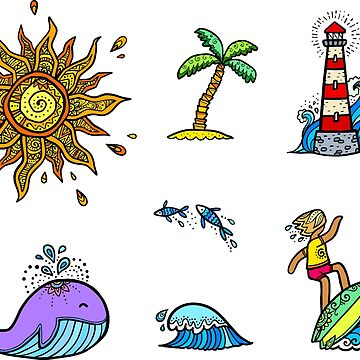 Summer time stickers set by 1enchik