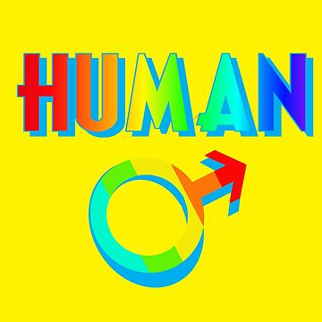 Human Men Multicolored Masculine Symbol Novelty Gifts. by chumi