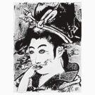 Smoking Geisha by Kenji Hasegawa