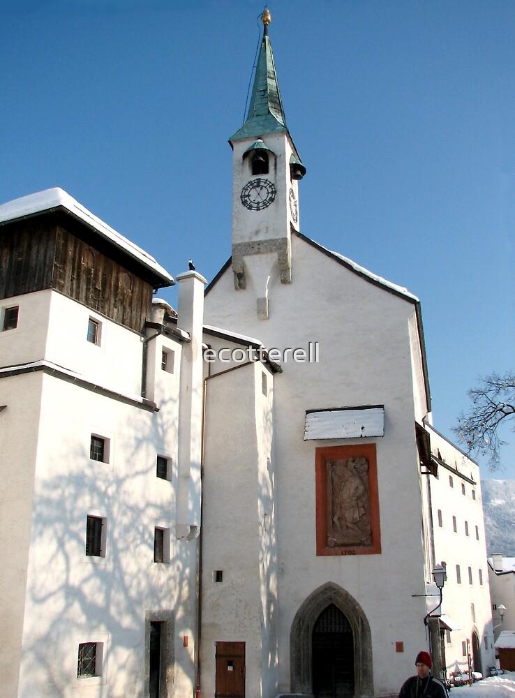 Church, Salzburg Castle by ecotterell