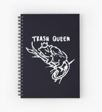 trash queen (white) Spiral Notebook