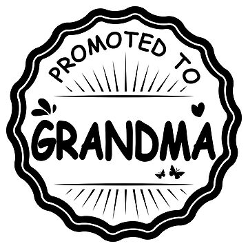 Promoted to Grandma Black - Gift Idea by vicoli-shirts