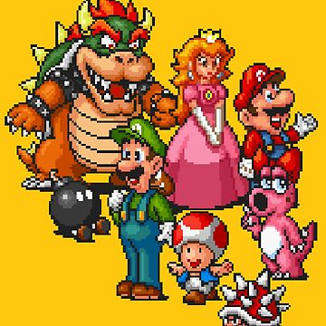 Super Mario All-Stars / Yellow by MisterPixel