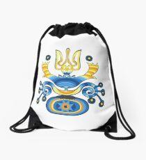 Ukrainisches Flaggen-T-Shirt Ukrainisches Wappen Emblem-Hemd Rucksackbeutel