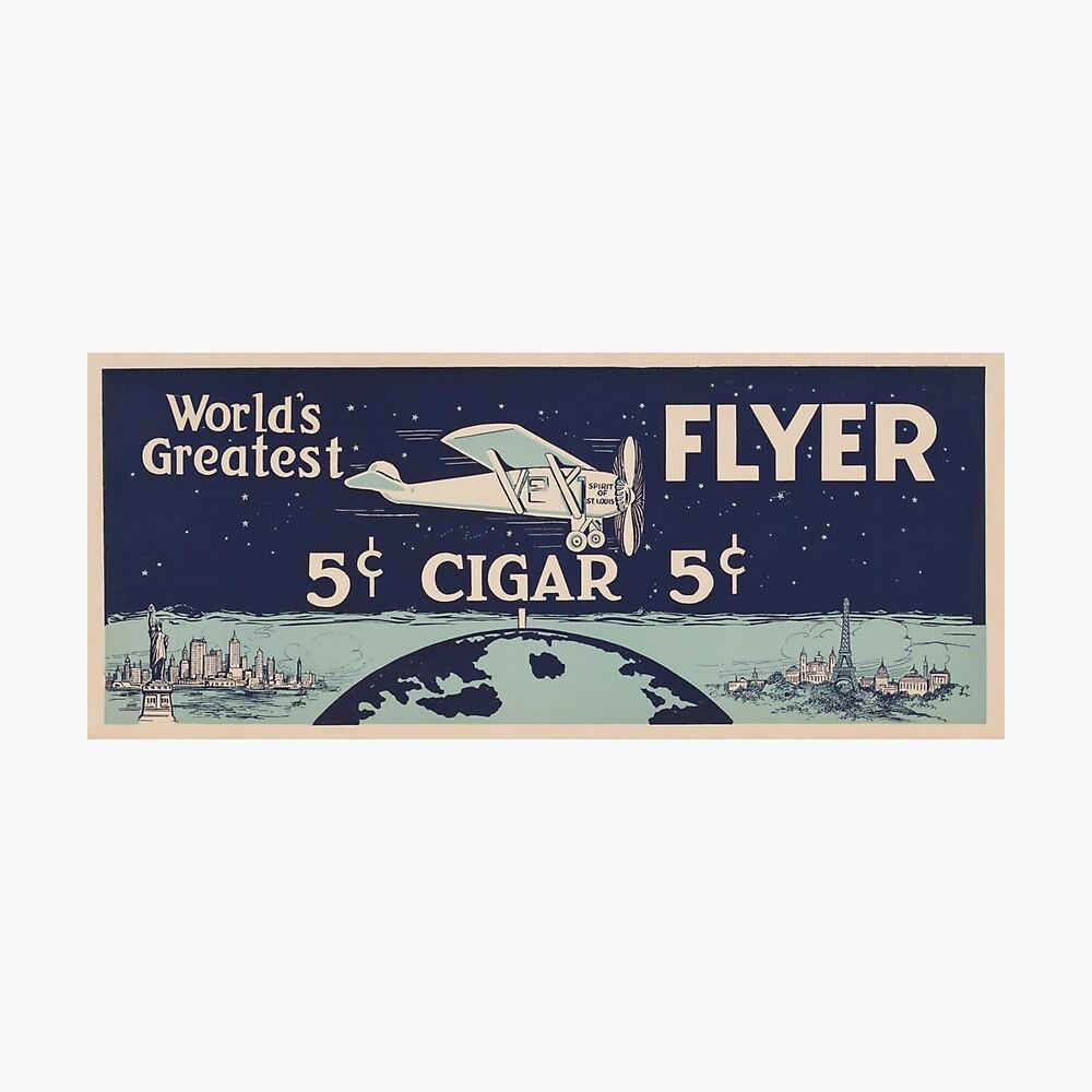 Spirit of St. Louis - Vintage Cigar Anuncio Lámina fotográfica