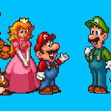 Super Mario All-Stars / Blue by MisterPixel