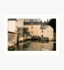 Mill on the Charente Art Print