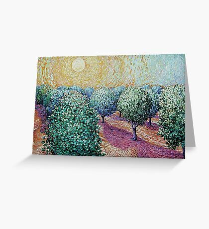 Plum Orchard Greeting Card