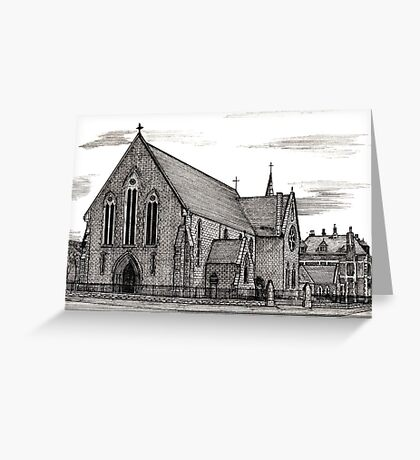 176 - OUR LADY & ST. WILFRID'S CHURCH, BLYTH - DAVE EDWARDS - INK - 1990 Greeting Card