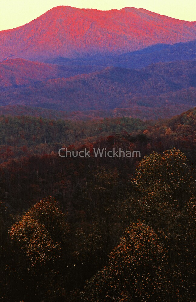 MT LECONTE, SUNSET by Chuck Wickham
