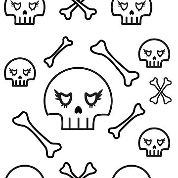 Skull and Bones Pattern by sassybeedesigns