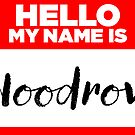 My Name Is... Woodrow - Names Tag Hipster Sticker & Shirt by lyssalou2002b