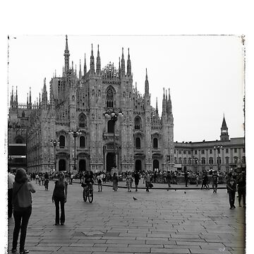Milano Italia Duomo black and white image  by cutehuur