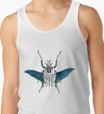Goliath Beetle in flight Tank Top