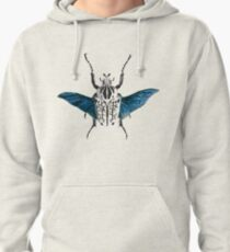 Goliath Beetle in flight Pullover Hoodie