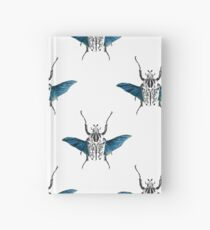 Goliath Beetle in flight Hardcover Journal