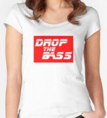 Camiseta entallada de cuello ancho DJ Drop the bass