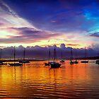 Sunset In Albufeira Marina Portugal by Seller2018KF