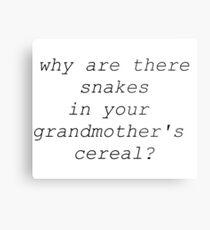 Sugar to Catch My Snake Metal Print