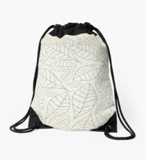 Leaf a background Drawstring Bag