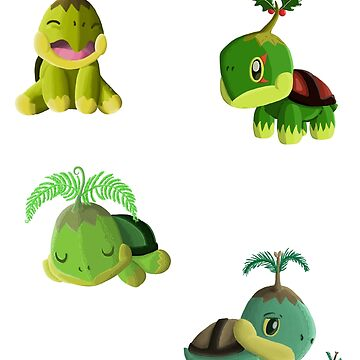 Turtwig Variant Sticker Set by Swainathan
