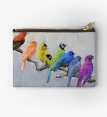 Birds of all Colors Zipper Pouch