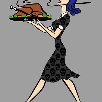 thanksgiving 1950s goth housewife by gossiprag
