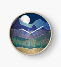 Mountains and Trees  Clock