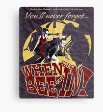 When That Bee Got In! Original Movie Poster Metal Print
