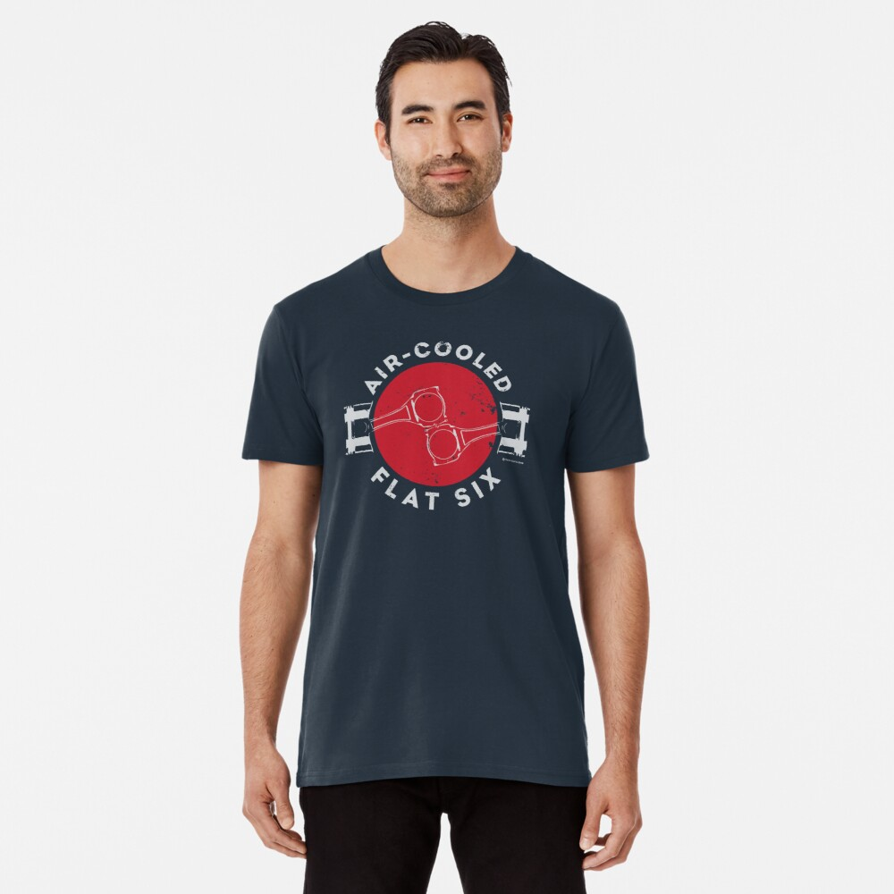 Air-Cooled Flat Six - Red Premium T-Shirt