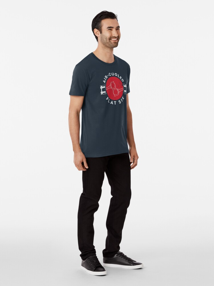 Alternate view of Air-Cooled Flat Six - Red Premium T-Shirt