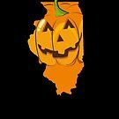 Halloween Clothes Illinois Halloween T Shirt by shoppzee