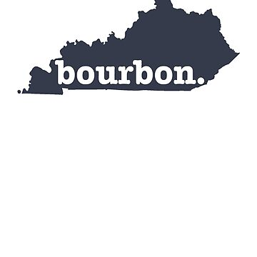 Kentucky Bourbon T-shirt (Navy) by ravishdesigns