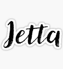 Jetta - Cute Names For Girls Stickers & Shirts Sticker