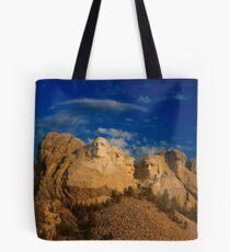 Sunrise over Mount Rushmore National Memorial Tote Bag