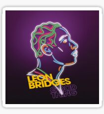 Leon kacer Bridges and Khruangbin Good Thing Tour 2018 Sticker